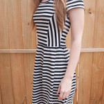 Madewell-inspired Striped Knit Dress