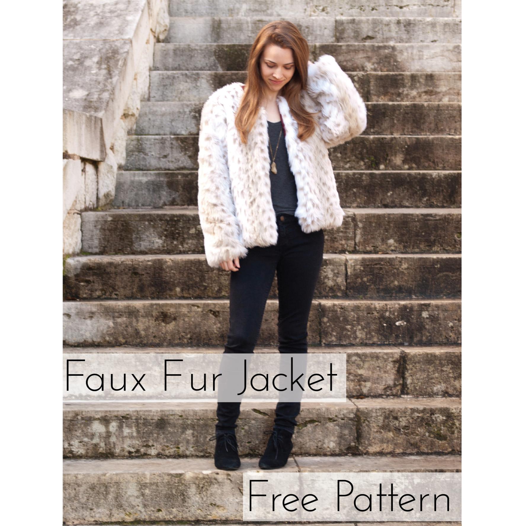 Faux Fur Jacket – free PDF pattern – Lindsay Woodward