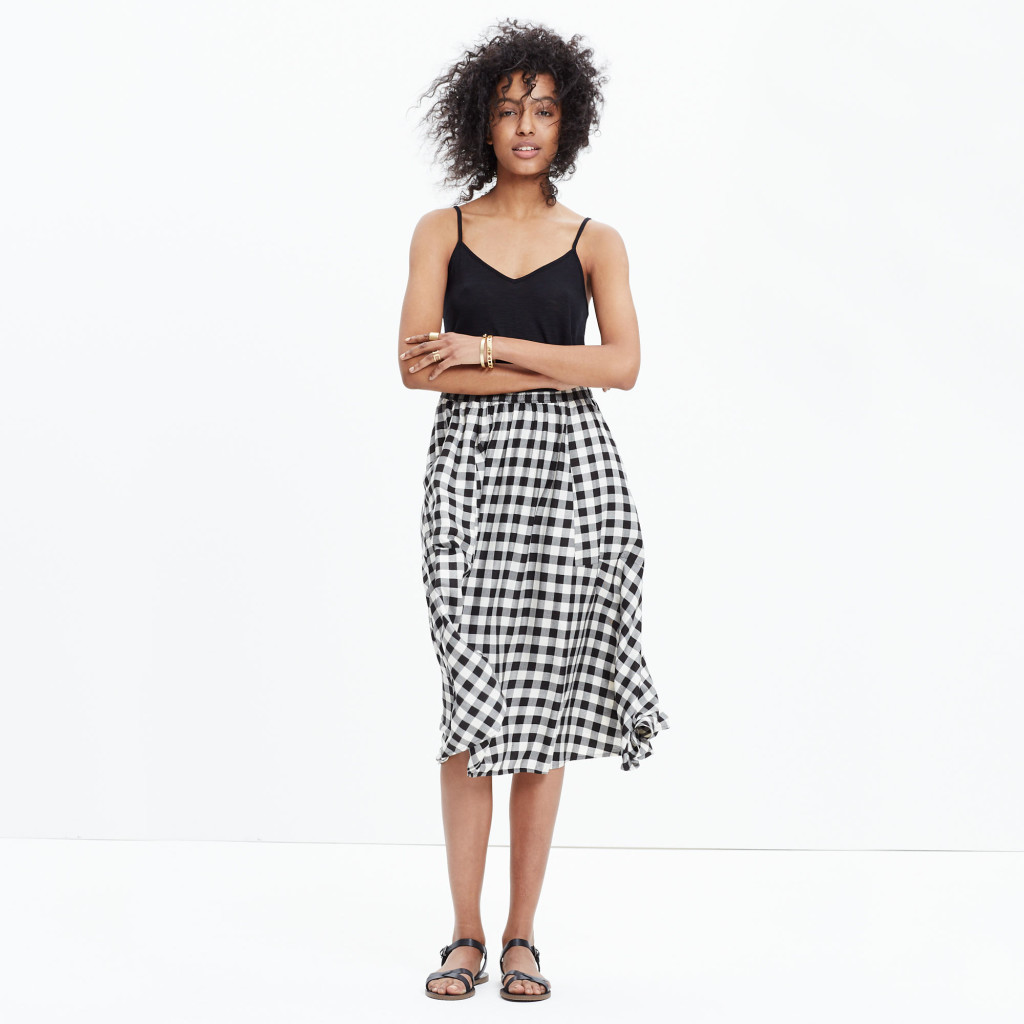 madewell gingham skirt