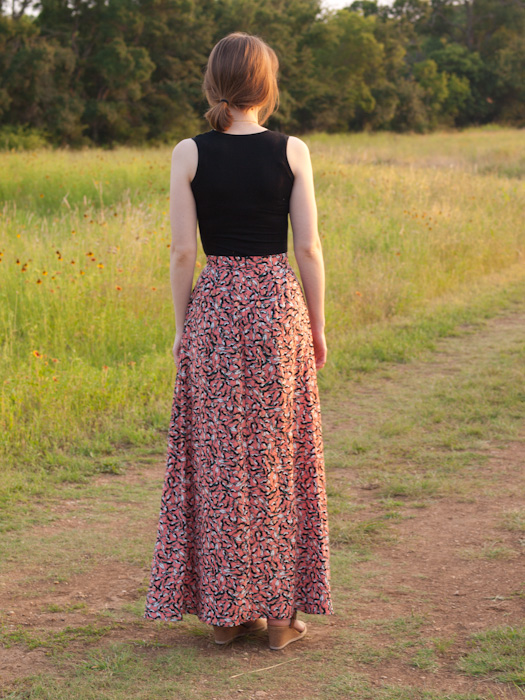 Parrot Lauha Maxi Skirt