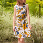 Retro Floral Leini Dress