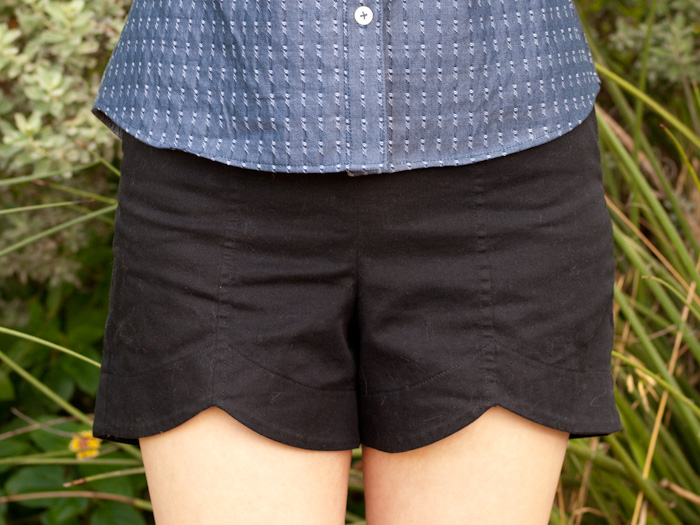 Scalloped Hem Shorts and Chambray Granville