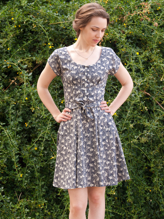 Liberty Snowdrop Doris Dress