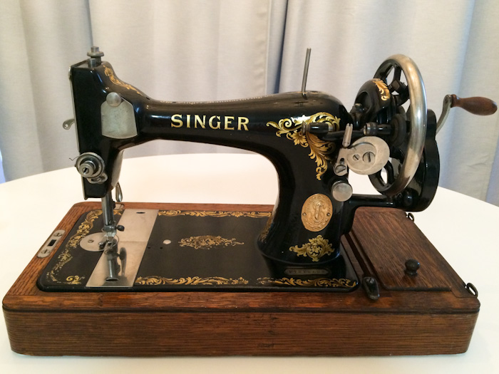 antique singer portable sewing machine value