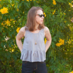 In the Folds – Ruffle Peplum Tank