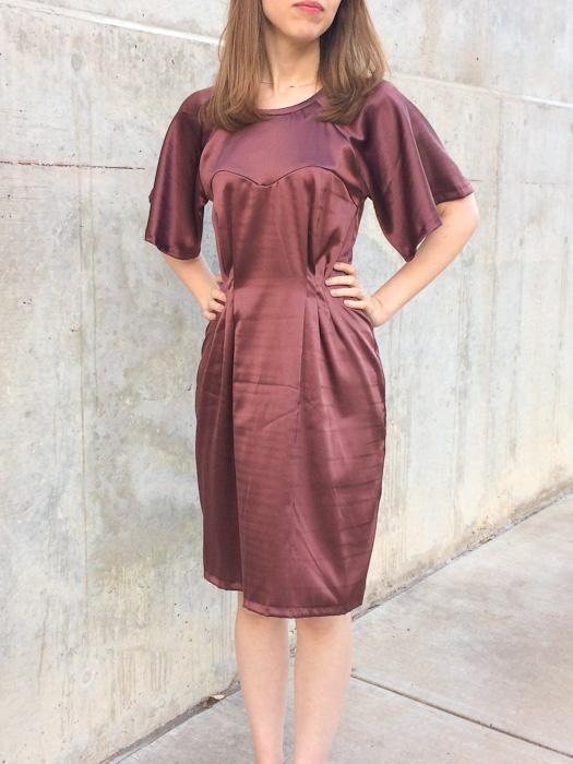 Ansa Butterfly Sleeve Dress - Named Patterns