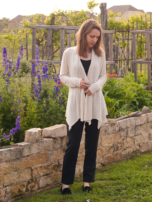 Swoon scarf neck cardigan